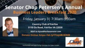 Senator Chap Petersen's Annual Business Leaders Breakfast @ Country Club of Fairfax