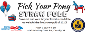 FCDC's Last Straw Poll Before the Primary! @ Mustang Sally's