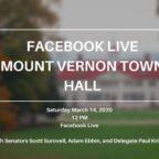 mt vernon facebook town hall