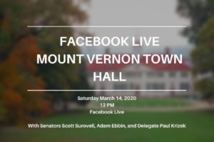 VIRTUAL Town Hall with Mt. Vernon General Assembly Delegation