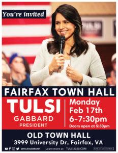 Tulsi Gabbard Fairfax Town Hall @ Old Town Hall