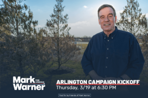 mark warner arlington kickoff