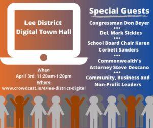 Lee District Digital Town Hall @ Crowdcast