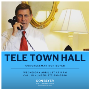 Congressman Don Beyer Tele Town Hall