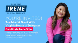 Irene for VA Meet and Greet @ Zoom