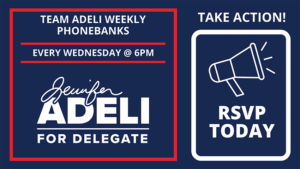 Team Adeli Weekly Phonebanks @ Adeli Campaign Zoom