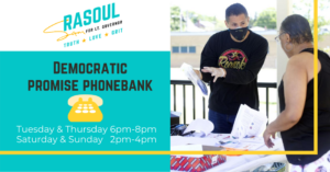 """Democratic Promise"" Phonebank: Sam Rasoul for LG @ virtual"