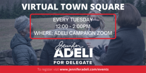 Virtual Town Square Series @ Adeli Campaign Zoom
