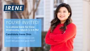 Irene for VA Phonebank! @ Virtual Zoom event