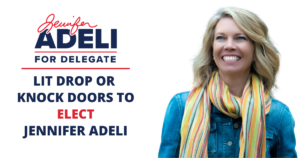 Team Adeli Canvass and Lit Drop @ Dolley Madison Library