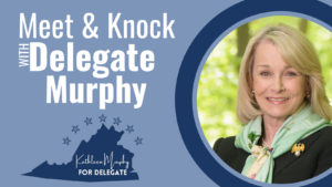 Meet & Knock w/ Delegate Kathleen Murphy @ Location will be provided in confirmation email prior to event.