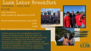 Rodney Lusk Labor Breakfast @ Springfield Hilton