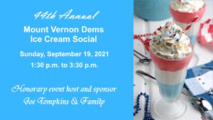 The 44th Annual Mount Vernon Dems Ice Cream Social @ Hybrid