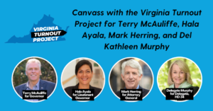 Canvass for Democrats in McLean! @ Murphy Campaign Office
