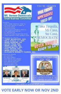Mount Vernon Voter Rally for Statewide and House of Delegates Candidates @ Casa Tequila Bar & Grill