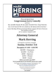 A Fall Event for Mark Herring @ An outdoor event in Vienna