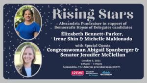 Rising Stars: Fundraiser for Elizabeth Bennett-Parker, Michelle Maldonado and Irene Shin @ Alexandria, VA