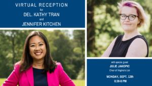 Del. Kathy Tran & HoD Candidate Jennifer Kitchen: Conversation on Women in Politics @ Zoom