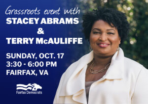 Stacey Abrams & Governor Terry McAuliffe in Fairfax County @ Fairfax County