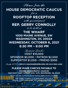 Rooftop Reception in Support of the Virginia House Democratic Caucus @ The Wharf