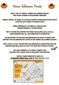 75th Annual Vienna Halloween Parade (Line-up starts at 5:30 pm) @ Spot 54A